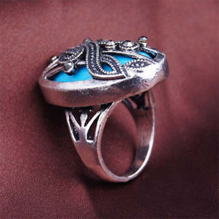 Fashion Retro Jewelry Finger Punk Rock Musical Note Ring Women Men 4 Size