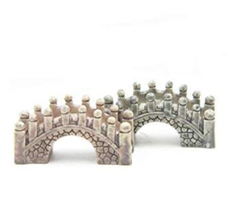 ODDIER Stone Arch Bridge Fairy Garden Kits Figurines for Miniatures OrnamentsTerrarium