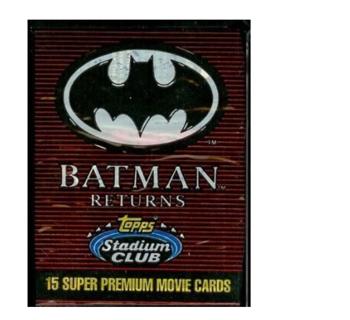 Topps Stadium Club Batman Returns Trading Card Pack - 15 cards per pack