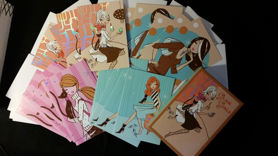 Marcel Schurman Collection Glam Girls Note Cards w/ Envelopes