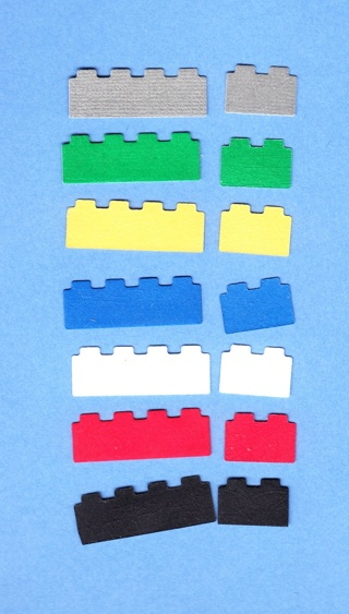 Free Lot 567 For 14 Lego Die Cut Embellishments Scrapbooking