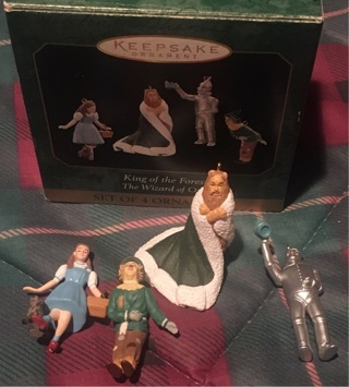 Hallmark King if the Forest set of 4 ornaments