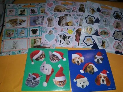Animal 5 cute sticker sheets Lowest gins always! No refunds! No lower! Selling out!