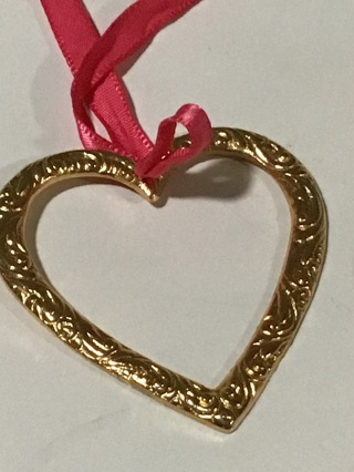 Metal heart for crafts or ornament