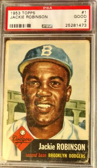VINTAGE 1953 JACKIE ROBINSON BASEBALL CARD