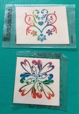 Set of 2 Rainbow / Psychedelic Temporary Tattoos