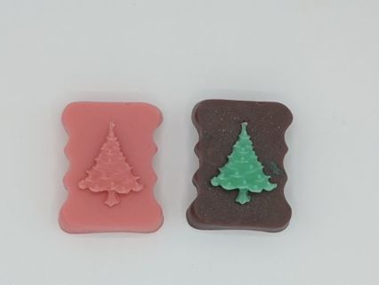 Customizable Christmas Soap bars! Santa and Tree!
