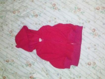 Pink Zippered Hoodie