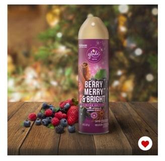 Glade® Aerosol Air Freshener Merry Berry & Bright Can Spray