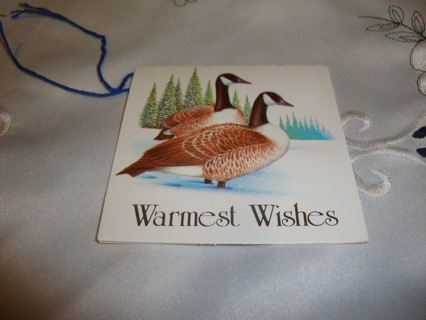 """""""Canadian Geese"""" Gift Tag ~ Free Shipping"""