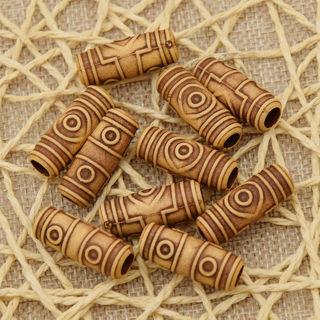 30 Pcs Acrylic Dreadlock Dread Hair Braid Tube Hair Beads Clip Cuff 6mm Hole