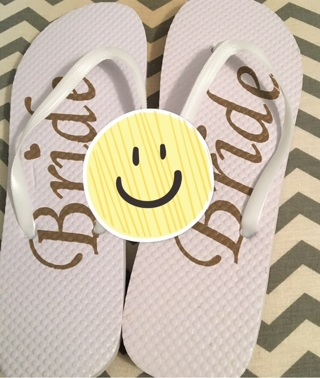 Bride Flip Flops