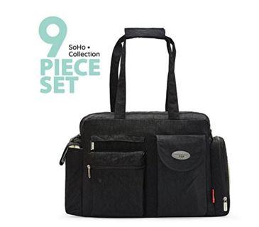 ~♥️70% OFF!♥️~SoHo diaper bag City Carry all 9 pieces nappy tote bag