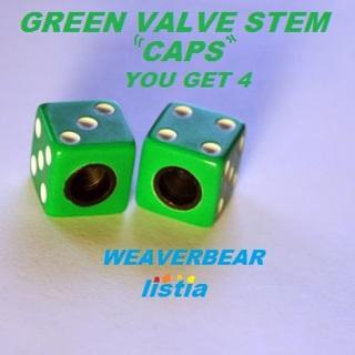 ##GREEN VALVE STEM CAPS##