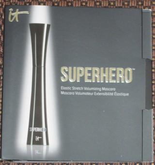 NEW NEVER USED It Cosmetics Superhero Elastic Stretch Volumizing & Lengthening Mascara Super Black