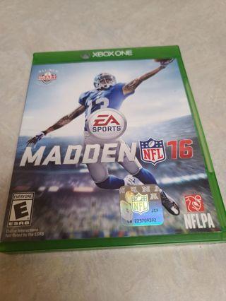Xbox one Madden 16 NFL