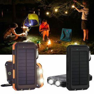 10000mAh Dual USB Solar Energy Power Bank Battery DIY Box Case W/ LED Light