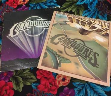 x2 COMMODORES VINYL ALBUMS VINTAGE RECOR