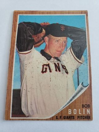 1962 topps Bob Brolin San Francisco giants vintage baseball card