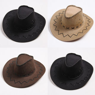 Cowboy Cap Solid Color Wide Brim Hat for Fancy Dress Party Witty