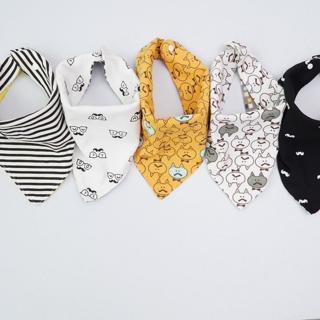 (1PCS ONLY) High quality cotton baby bibs Burp Cloths Fashion  Animal Print baby bandana bibs drib