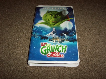 dr seuss how the grinch stole christmas starring jim carrey vhs tape - How The Grinch Stole Christmas Vhs