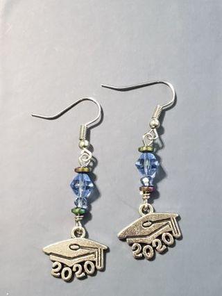 NEW~2020 graduate~ baby blue earrings