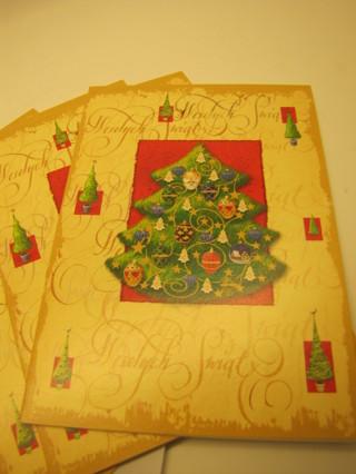 Christmas Cards - Vintage-Looking Christmas Tree