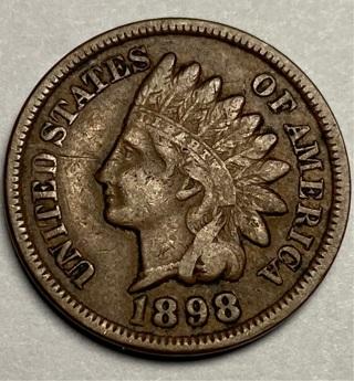 1898 INDIAN HEAD CENT (Full Liberty )