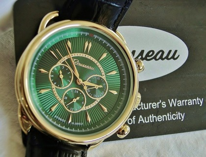 or this automatic rousseau mens watch green dial this automatic rousseau mens watch green dial