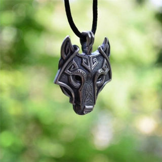 Norse Vikings Of The Necklace Original Wolf Head Pendant Necklace Jewelry New