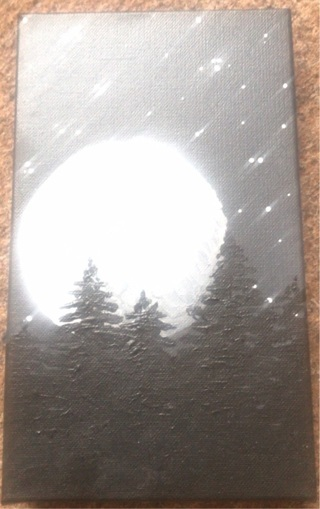 Full moon painting By G.Venckauskaite