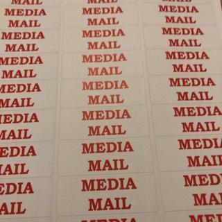 Media mail labels