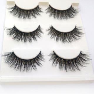 3D Mink Makeup Cross False Eyelashes Eye Lashes Handmade