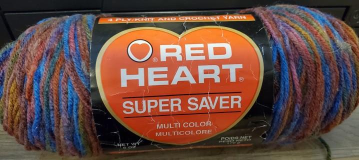 "NEW - Red Heart Super Saver Yarn - ""Fiesta Jewel"""