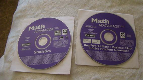 statistics math advantage 2003 pc cds
