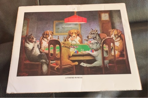 A Friend in Need Dogs Playing Poker Picture