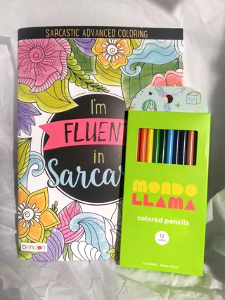 """Funny """"Sarcasm"""" Adult Coloring Book"""