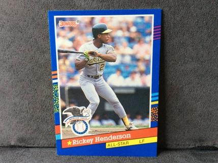 Free Rickey Henderson All Star 1991 Donruss Baseball Card