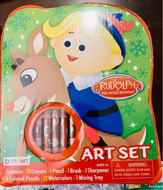 Brand New Gift Quality Bendon Rudolph Red-Nosed Reindeer Art Set for Kids of All Ages 3+