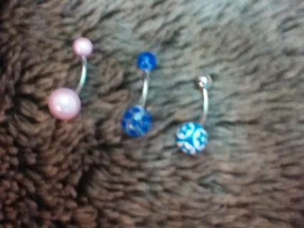 belly ring 3 pack CUTE