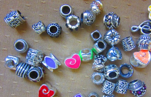 50 Spacers and Charms