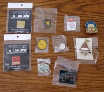 Lot of 10 collector pins department 56 and more