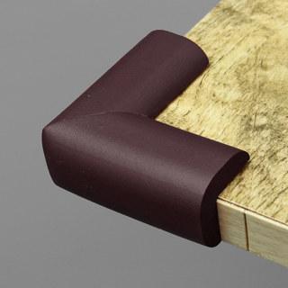 4X Brown Table Corner Cushions