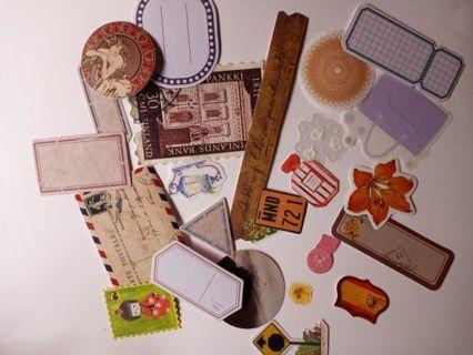25 Junk Journaling Stickers