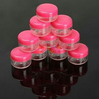 10Pcs 5g Cosmetic Empty Jar Pot Makeup Face Cream Lip Balm Container Clear