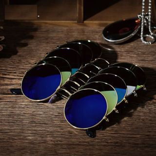 [Gift to get seller Wings]Retro Vintage Round Mirrored Sunglasses - UV400 100% UV protection