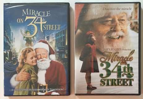 Miracle on 34th Street 1947 and 1994 Two DVD Classic Christmas Movie Set - Brand New Factory Sealed!