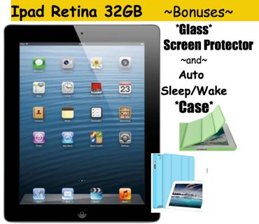 *NEW* iPad ➜32gb *Retina Display* 4th Gen ☄BONUS☄GLASS Protector & CASE ⚡️Check my feedback!⚡️