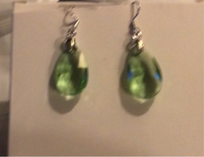 Brand New Colorful and Chic Crystal Silver - Type Drop and Dangle Pierced Earrings.